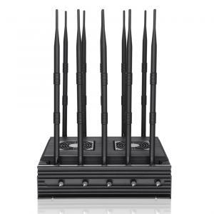 New powerful 10 antennas jammer block 2G, 3G, 4G, WIFI, 5.8GGPSL1 ,Lojack,75W output power cover range up to 80m