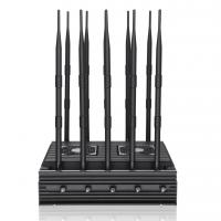 Quality New powerful 10 antennas jammer block 2G, 3G, 4G, WIFI, 5.8GGPSL1 ,Lojack,75W output power cover range up to 80m for sale