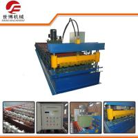 SB750 Trapezoidal Sheet Roll Forming Machine 5.5T Weight Custom Color Manufactures