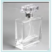 50ml Clear Square Perfume Bottles Empty Glass Perfume Atomizer Bottles Manufactures
