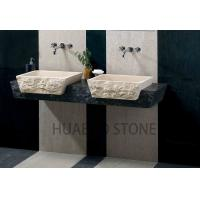 Modern Wash Basin Sink , Bathroom Vessel Sinks Unit Molded Natural Color Manufactures