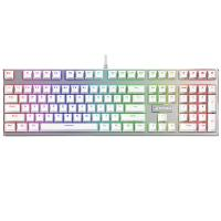 China White Color RGB Backlit Gaming Keyboard 433 x 135 x 37.7 mm With Anti - Slip Rubber Feet on sale