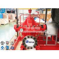 UL Listed Red Color Split Case Fire Water Pump Ductile Cast Iron Material Manufactures