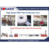 50m/min Plastic Pipe Production Line , PERT Pipe Making Machine Fully Automatic Winding Machine Manufactures