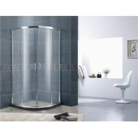China Curved Glass D Shaped Shower Cabin / Sliding Shower Enclosure Full Aluminum Alloy on sale