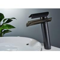 Quality ROVATE Fancy High Black Basin Sink Mixers Cold And Hot Water For Wash Basin for sale