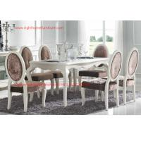 Ivory Neoclassical Dining Room Furniture collection by rubber wood with Glass or Marble table top Manufactures