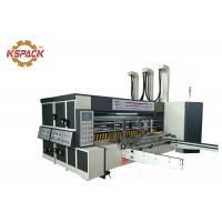 Pizza Box Rotary Die Cutter Two Color Printing Machine For Corrugated Carton Industry Manufactures