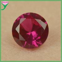 high quality 5# myanmar round shape synthetic star red corundum ruby Manufactures