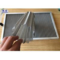 Wrinkled Dust Filter Mesh , Stainless Steel Dust Collector Air Filter Manufactures
