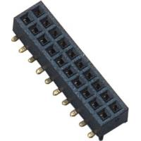 Dual 2*10 Pin Female Pin Header Connector 1.27mm 180° SMT PA9T Black Manufactures