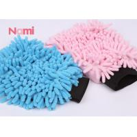 Quality Extreme Thick Microfiber Chenille Dusting Mitt , Double Size Microfibre Noodle Wash Mitt for sale