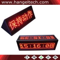 China 16x64 Programmable Double-Sided Desktop LED Counter Moving Display Scrolling Message Sign wholesale