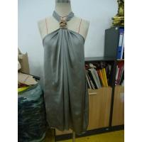 Grey Chiffon Womens Club Dresses Boutiques Open Back Knot / Halter Neck Short Dress Manufactures