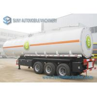 Colored Cargo Tractor Oil Tank Trailer 3 Axle With Gravity Discharge Manufactures