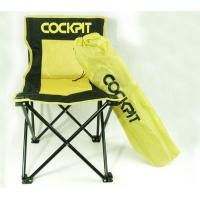China Custom Yellow and Black Folding Beach Chair with Carrying Bag , 300 IBS Load on sale