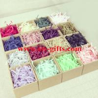 Hot selling gift tissue paper shredded, crinkle cut paper shred for wrap Manufactures