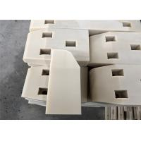 China Beveled corners PE500 plastic wear pad with countersink drilling holes on sale