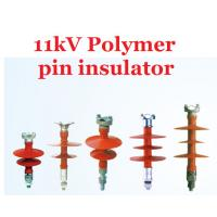 Power Line Polymeric 11kv Pin Insulator IEC61109 High Flexibility Manufactures