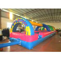 Inflatable the commercial rainbow water slide inflatable horizontal direction interesting wild splash on sale Manufactures