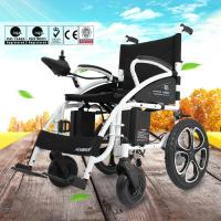 6009 Light Weight Electric Folding Wheelchair For Elderly with Steel Material Manufactures