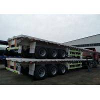 Professional Carbon Steel Heavy Duty Semi Trailers 28 Ton 3 Axles Manufactures