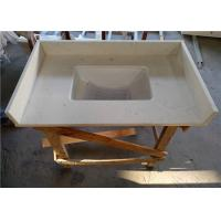 """Smarter Carrara White Quartz Vanity Countertops 23"""" X 36"""" With Sink And Splashes Manufactures"""