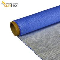 Heat Insulation Silicone Coated Fiberglass Fabric For Fire / Smoke Curtain Manufactures