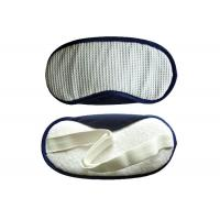customized Sleeping Eye Shades White Waffle With TC Fabric Nose Pad Manufactures