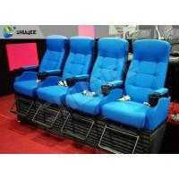 Bright Blue Electronic / Hydraulicz 4D Movie Theater Chair 4D Cinema Simulator Manufactures