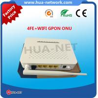Quality HZW-G804-W 1GE 4FE+WIFI GPON ONU with power-off alarm function on promotion for sale