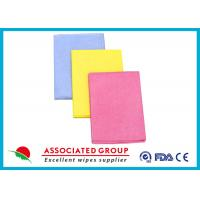 China Needlepunched Nonwoven Cleaning Wipes Color Dyeing Disposable Or Recycle use on sale