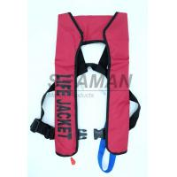 150N EN / ISO Automatic Inflatable Life Jackets 210D Nylon TPU Single Air Chamber Manufactures