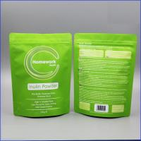 Matte White Doypack Plastic Pouches Packaging Zipper Top Plastic Coffee Bag With Valve Manufactures