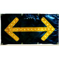 High Visibility Traffic Control Arrow Boards Chevron LED Flashing Arrow Sign Manufactures