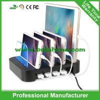 4 USB travel charger with holder 4 usb wall charger Manufactures