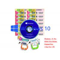 32/64 bit Windows 10 Product Key Sticker Win 10 Pro COA X20 Online Activate Manufactures