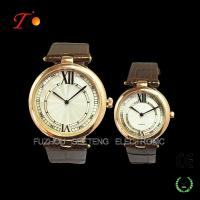 Elegant Pair Watch with Gold Alloy case, Pu leather strap Manufactures