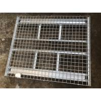 Folding Industrial Hot - Dipped Galvanized Wire Mesh Container 1500kg Loading Capacity Manufactures