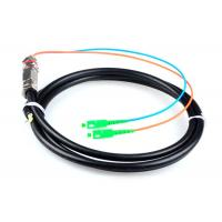 Single Mode SC APC Pigtail , G652D 2 Core Optical Fiber Cable Water Resistant