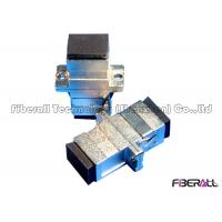 Metal SC Fiber Optic Adapter Fiber Optic Couplers Simplex With Rubber Dust Cover Manufactures