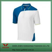 China Men's Color Blocking Sport Shirts With Zip on sale
