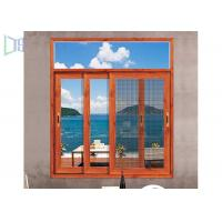 Heat Insulation Aluminium Sliding Windows Soundproof With Safety Flyscreen Manufactures