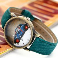 Quality Cowboy Men Leather Strap Watches Retro Style ,  Printed Leather Banded Watches for sale