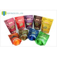 Dehydrated Food Ziplock Stand Up Pouches Transparent Window Front Reusable Manufactures