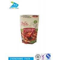 Pizza Dough Stand Up Barrier Pouches Heat Seal Resealable Food Packaging Manufactures