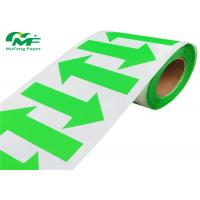 Arrow Green Color Barcode Custom Thermal Labels Roll Paper Stickers 2*1.25 Inch Manufactures