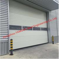 PU Foaming Automatic Handle Industrial Garage Doors EPS Sandwich Panel Lifting Door For Workshop Manufactures