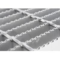 Round Bar Custom Stainless Steel Grill Grates , Pressure Welded Open Mesh Flooring Manufactures