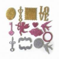 Stickers, OEM Orders are welcome, Made of Chipboard and Glitter Manufactures